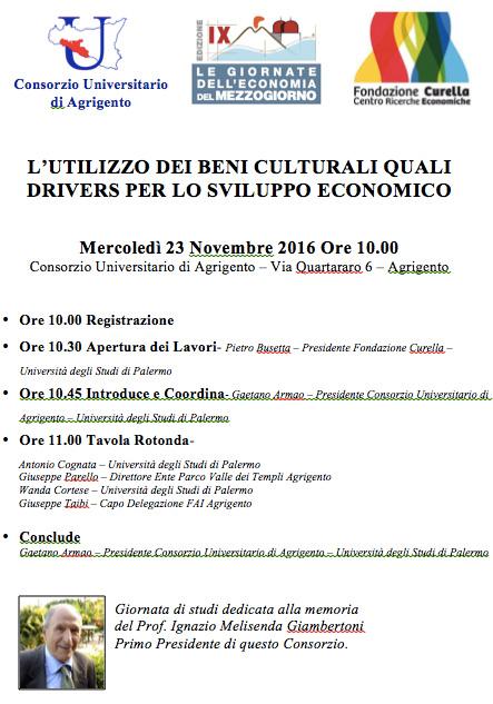 L'utilizzo dei beni culturali quali drivers per lo sviluppo economico