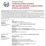Convegno 6 e 7 Marzo – Autonomia siciliana