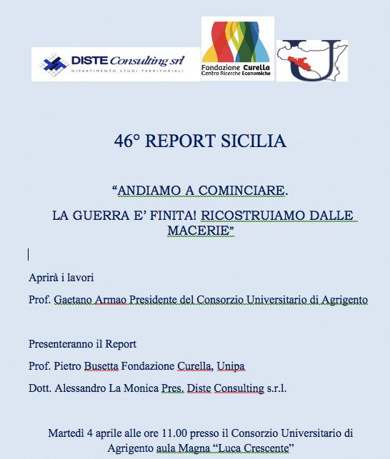 46° REPORT SICILIA – ANDIAMO A COMINCIARE…