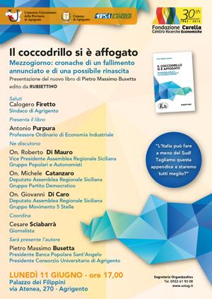 """Presentazione Libro del Prof. Petro Massimo Busetta """"Il coccodrillo si è affogato"""""""